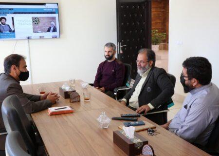 بازدید مدیرکل روابط عمومی سازمان ارشاد اسلامی قم از پایگاه خبری صدای حوزه