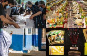 کمک هیئات و گروههای جهادی به نیازمندان در سال ۹۹+عکس