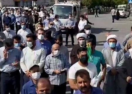 راهپیمایی مردم ایذه در پی ناآرامی های اخیر + فیلم
