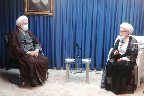 دیدار رئیس قوه قضائیه با آیات عظام نوری همدانی و سبحانی + تصاویر