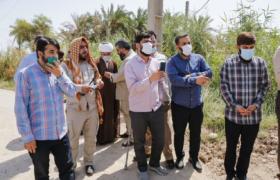 آبرسانی جمعی از مداحان و جمعیت امام رضایی ها به یکی از روستاهای خوزستان