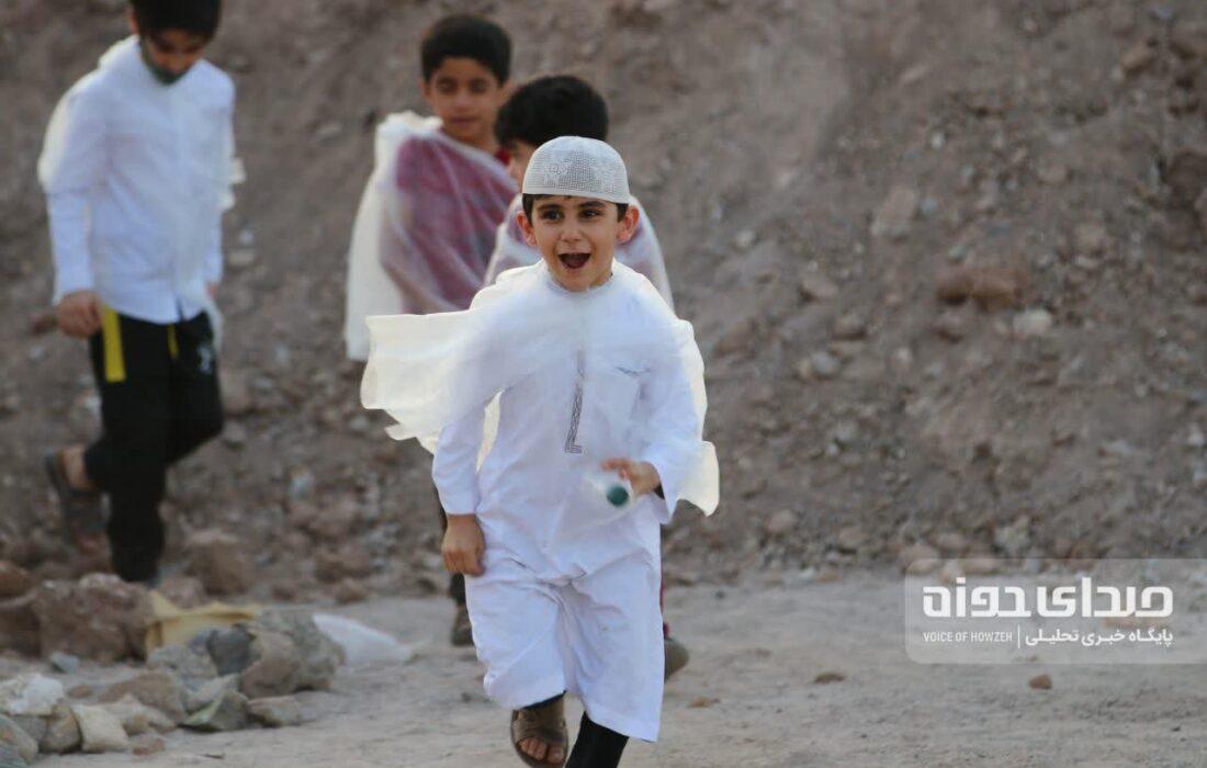 آیین نمادین حج کودکان در شهرک پردیسان قم