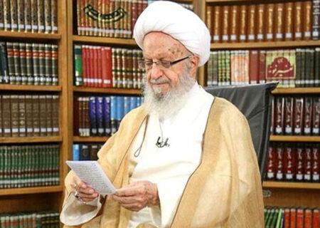 تشکر و قدردانی آیت الله مکارم شیرازی از علما و مقام معظم رهبری